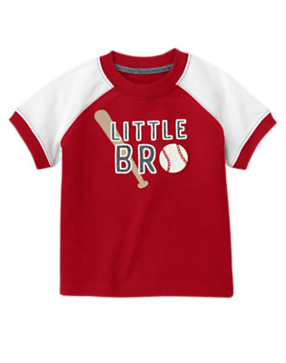 Baseball Red Little Bro Baseball Tee by Gymboree