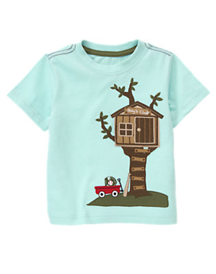 Ballpark Blue Tree House Tee by Gymboree
