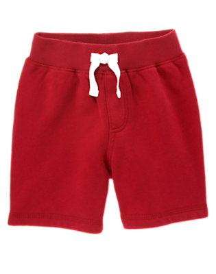 Baseball Red Baseball Pocket Fleece Short by Gymboree