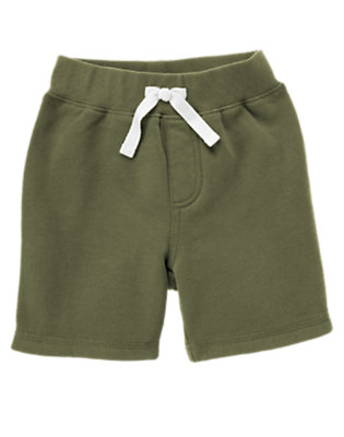 Olive Green Baseball Pocket Fleece Short by Gymboree