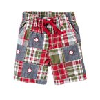 Baseball Plaid Patchwork Short