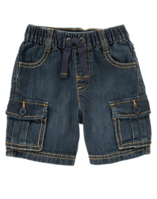 Denim Denim Cargo Short by Gymboree