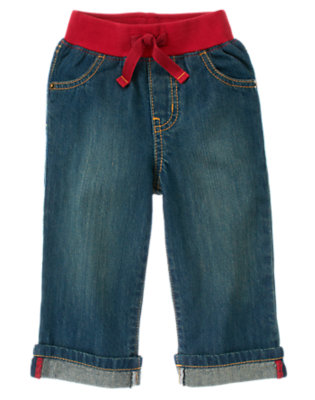 Toddler Boys Denim Pull-On Jean by Gymboree
