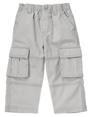 Toddler Boys Misty Grey Pull-On Corduroy Cargo Pant by Gymboree