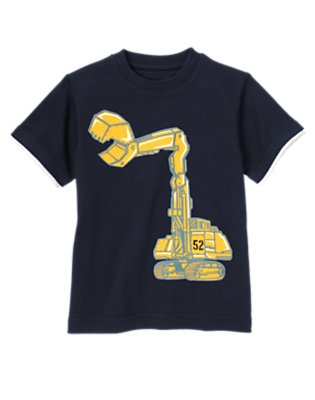 Midnight Blue Excavator Tee by Gymboree