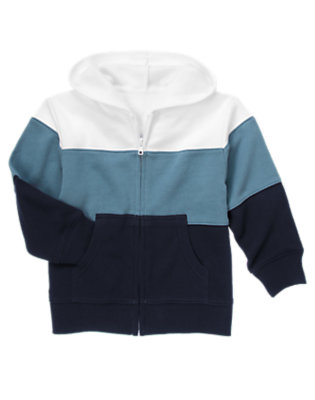 Midnight Blue Stripe Zip Hoodie by Gymboree