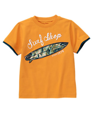 Papaya Orange Surf Shop Tee by Gymboree