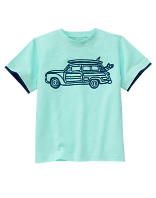 Tidal Blue Surf Station Wagon Tee by Gymboree