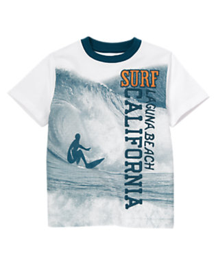 Boys White Laguna Beach California Surf Tee by Gymboree