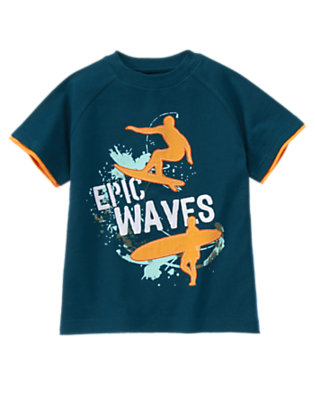 Surf Blue Epic Waves Surfer Tee by Gymboree