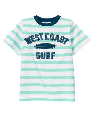 Tidal Blue Stripe West Coast Surf Stripe Tee by Gymboree