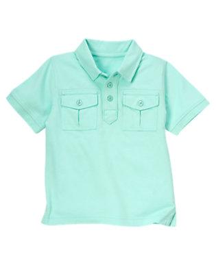 Tidal Blue Pocket Polo Shirt by Gymboree