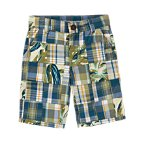 Leaf Plaid Patchwork Short