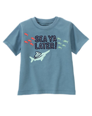 Anchor Blue Sea Ya Later Ocean Tee by Gymboree