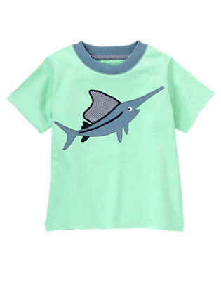 Scuba Green Swordfish Tee by Gymboree