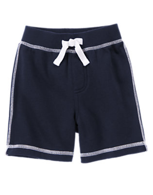 Midnight Blue Fleece Short by Gymboree