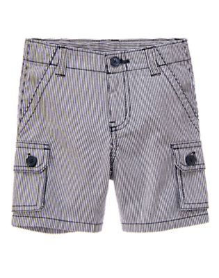 Blue Stripe Engineer Stripe Cargo Short by Gymboree