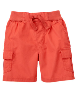 Submarine Orange Cargo Short by Gymboree