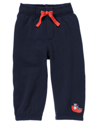Midnight Blue Tugboat Fleece Pant by Gymboree