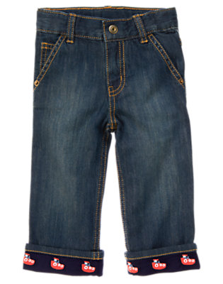 Toddler Boys Denim Tugboat Cuffed Jean by Gymboree