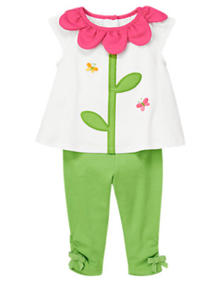 Flower Pink Flower Neck Two-Piece Set by Gymboree