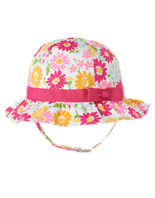 Flower Pink Floral Flower Print Hat by Gymboree