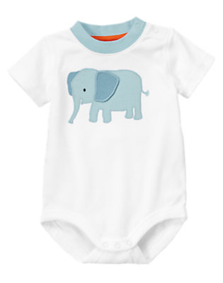 Baby White Elephant Ear Bodysuit by Gymboree