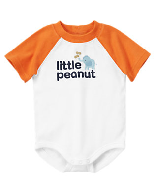 White Little Peanut Bodysuit by Gymboree