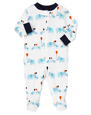 Elephant Elephant Footed One-Piece by Gymboree
