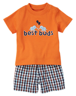 Orange Best Buds Two-Piece Set by Gymboree