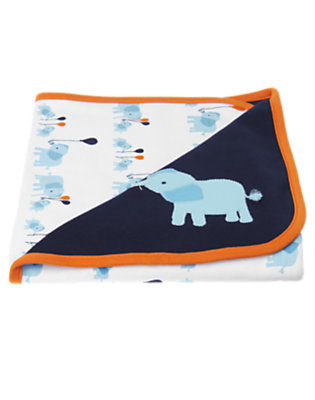 Baby Midnight Navy Elephant Blanket by Gymboree