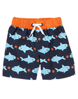 Baby Shark Shark Swim Trunk by Gymboree