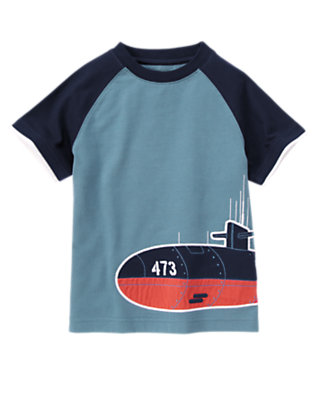Anchor Blue Submarine Raglan Tee by Gymboree