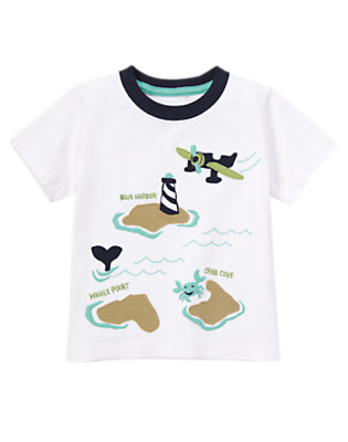 White Sea Plane Scenic Tee by Gymboree