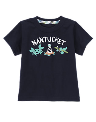 Midnight Blue Nantucket Crab Tee by Gymboree