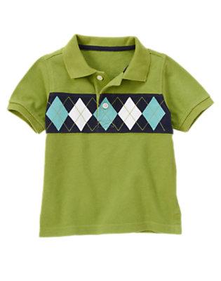 Toddler Boys Spring Green Argyle Pique Polo Shirt by Gymboree