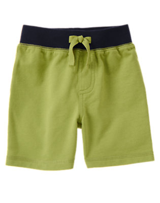 Spring Green Drawstring Terry Short by Gymboree