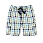 Checked Seersucker Cargo Short