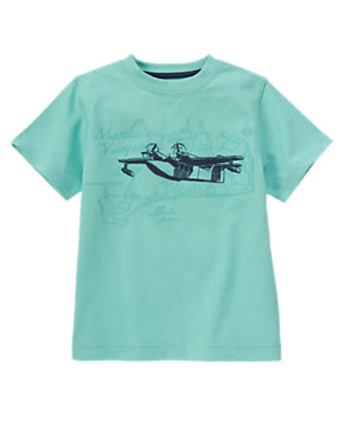Sea Blue East Coast Airplane Tee by Gymboree