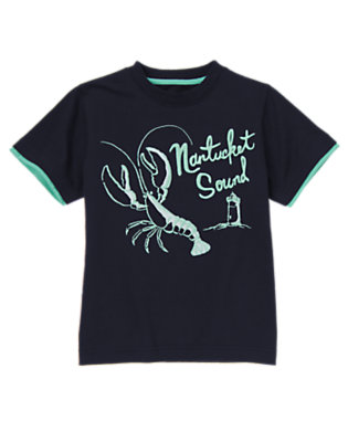Boys Midnight Blue Nantucket Lobster Tee by Gymboree