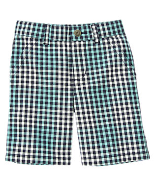 Midnight Blue Check Checked Short by Gymboree