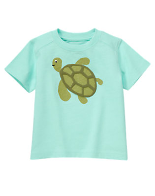 Toddler Boys Tidal Blue Sea Turtle Tee by Gymboree