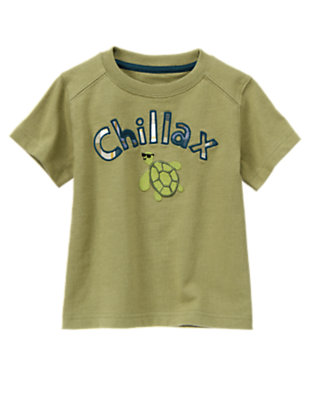 Toddler Boys Dusty Olive Green Chillax Sea Turtle Tee by Gymboree