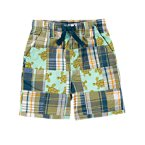 Sea Turtle Plaid Patchwork Short
