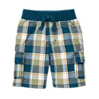 Plaid Pull-On Cargo Short