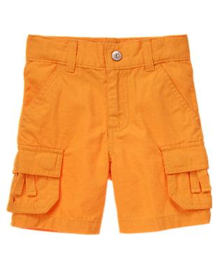 Papaya Orange Ripstop Cargo Short by Gymboree