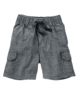 Chambray Blue Chambray Cargo Short by Gymboree