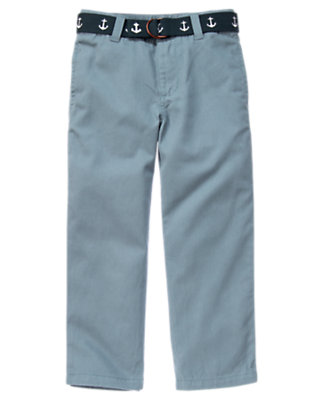Anchor Blue Anchor Belted Twill Pant by Gymboree