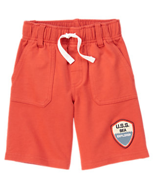 Submarine Orange Sea Explorer Terry Short by Gymboree
