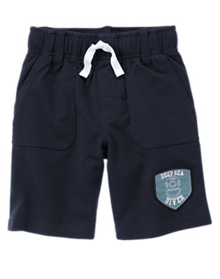 Midnight Blue Deep Sea Diver Terry Short by Gymboree